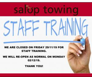 SALOP STAFF TRAINING 2019